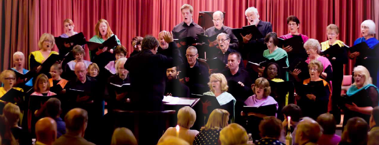 Grimsby Bach Choir in full flow during the Songs from Stage and Screen concert at Grimsby Central Hall. Photograph courtesy of The Peoples Publication.
